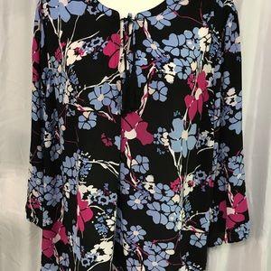 KAARI blue curvy blouse size 3X